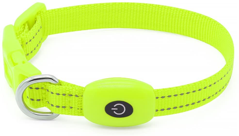 Clan_X Led Dog Collar, USB Rechargeable Lighted Collar for Small Dogs Cats, Glow in Dark Reflective Collars Keep Your Puppy Visible & Safe