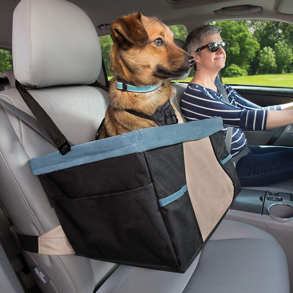 Best-7-accessories-to-make-your-car-dog-friendly.-Booster-seats-with-clip-on-are-perfect-for-dogs-to-travel-in-cars