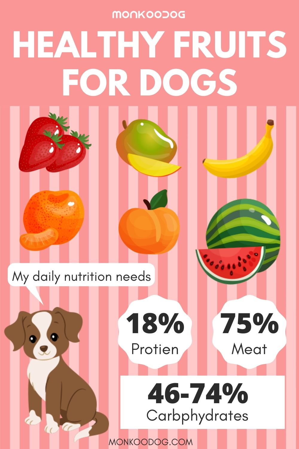 HEALTHY FRUITS FOR DOGS