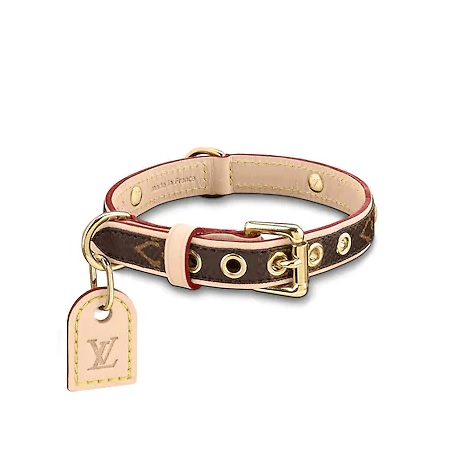 The Baxter Monogrammed Dog Collar from Louis Vuitton