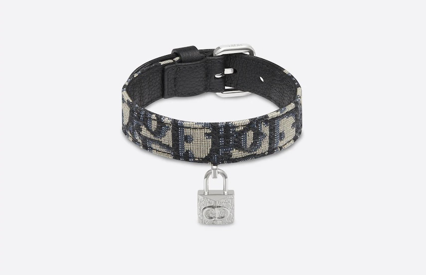 The Dior Oblique Jacquard Dog Collar