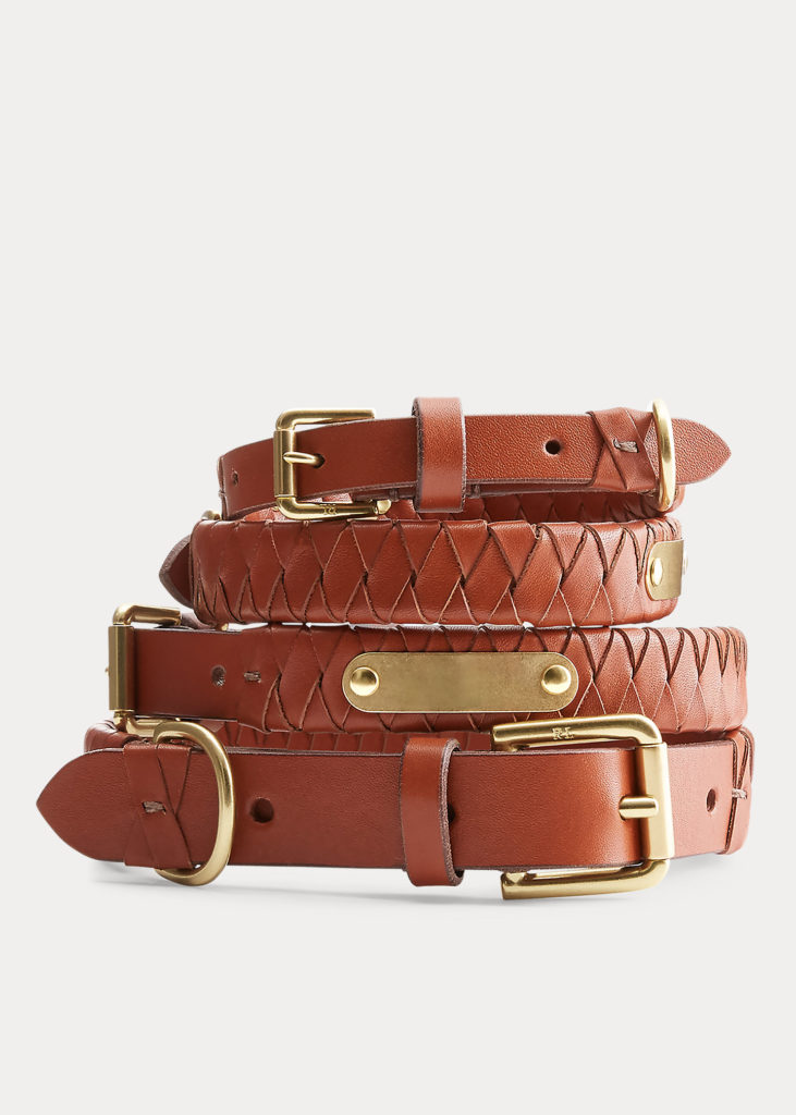 The Sable Woven Leather Collar from Ralph Lauren