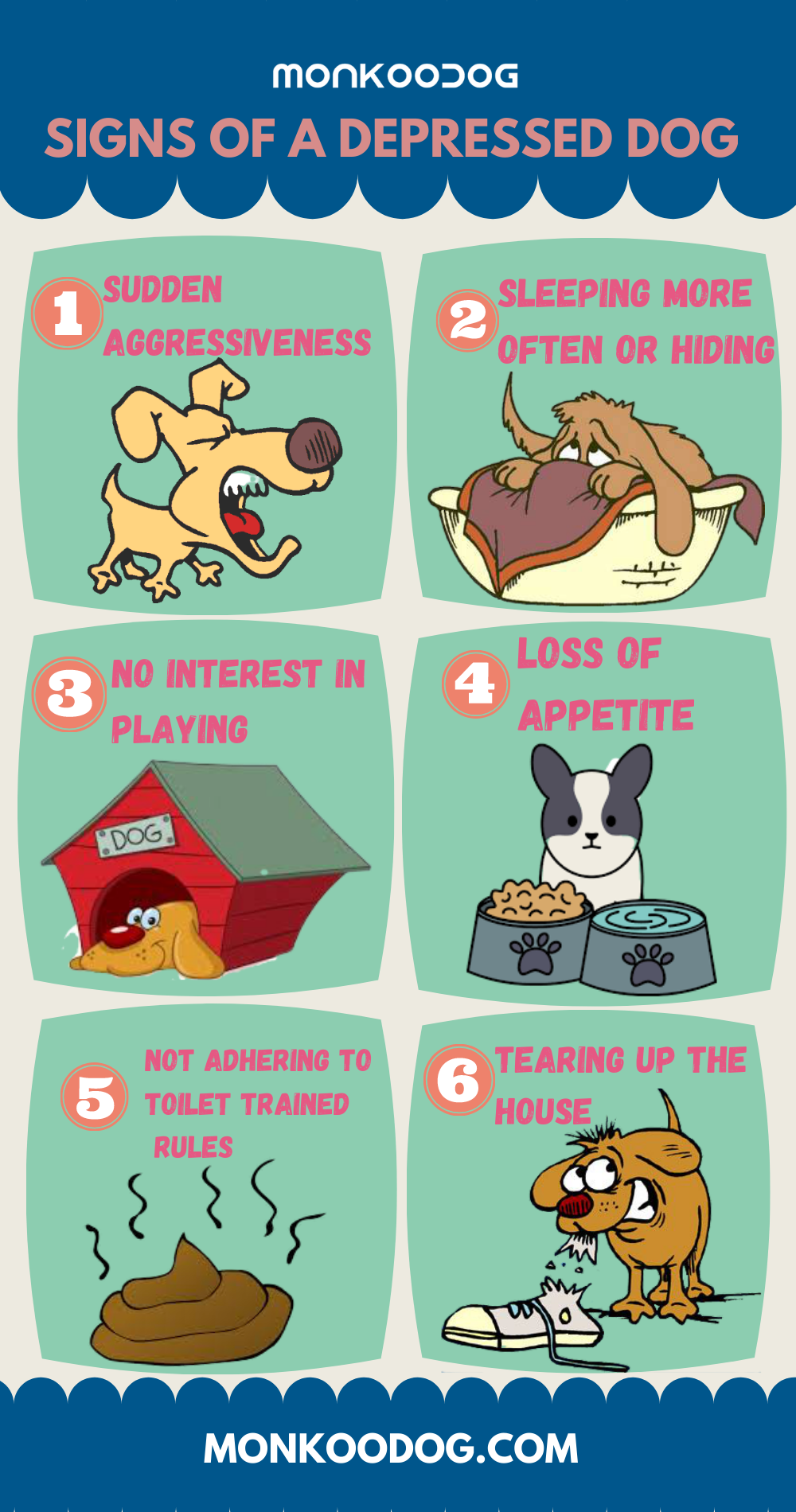 6 SIGNS OF A DEPRESSED DOG