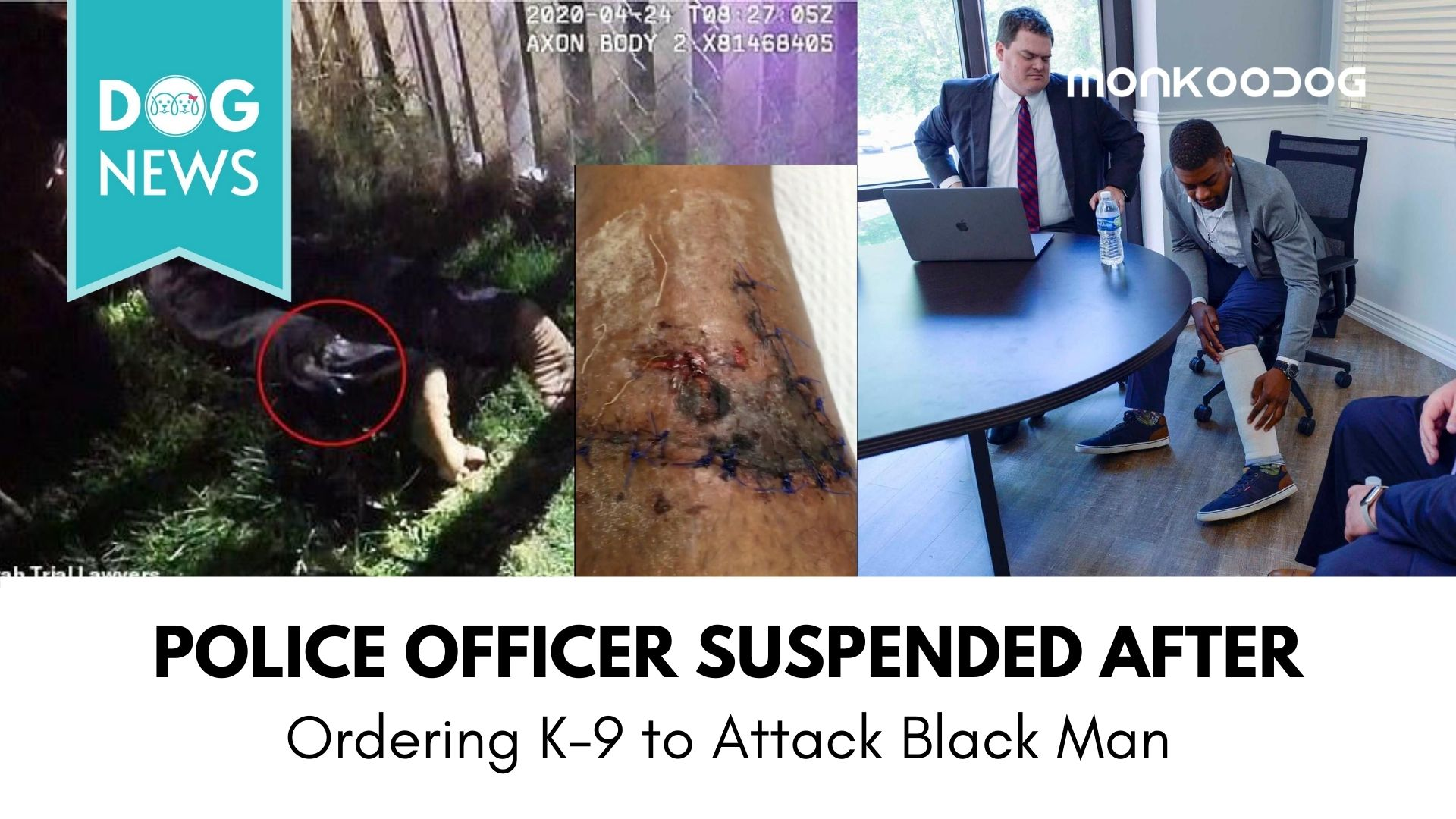 Salt Lake City Police Officer Ordered his K9 to Attack a Black-man. Officer got Suspended after Video gets Leaked