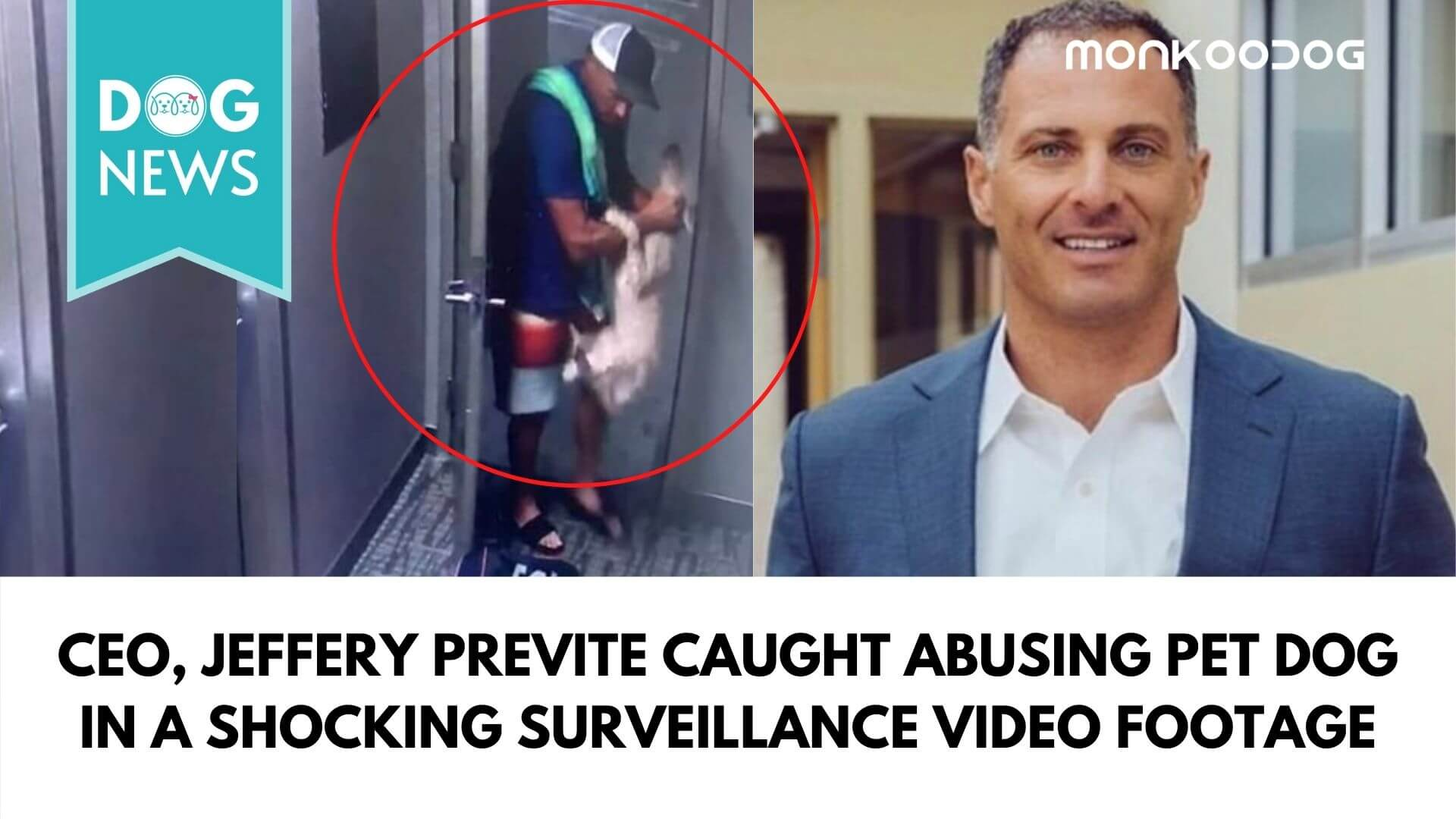 CEO, Jeffery Previte caught abusing pet dog in a shocking surveillance video footage