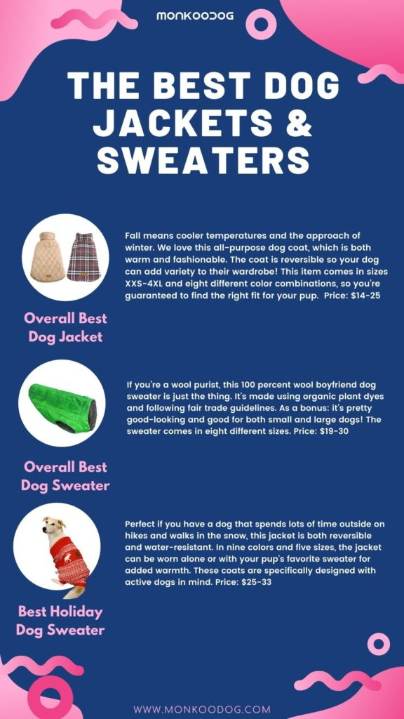 The Best Dog Jackets & Sweaters
