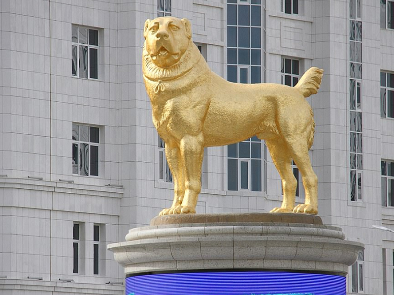 Dog Statue Made Of Gold