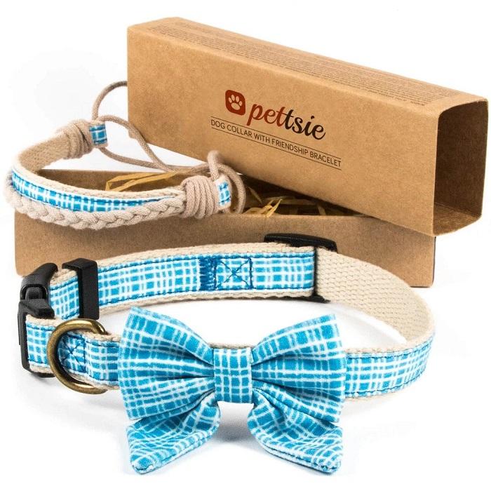 Matching Dog Collar Bow Tie