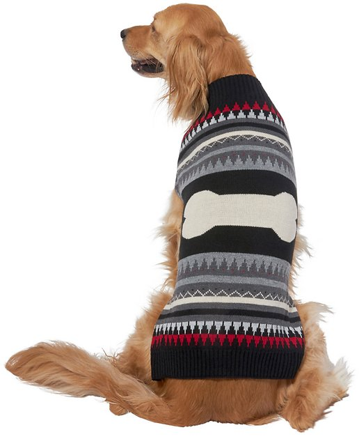 Back Bone Fair Isle Dog Sweater