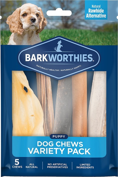 Barkworthies Puppy Variety Pack Natural Dog Chews