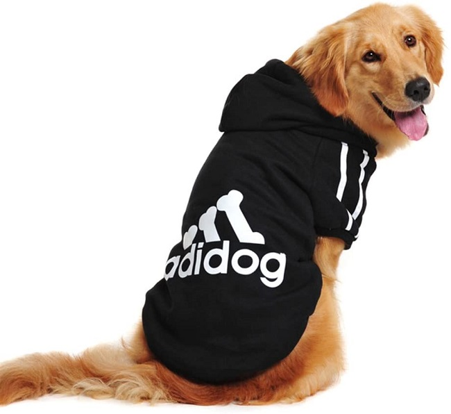 Cotton Adidog Dog Hoodie by Idepet