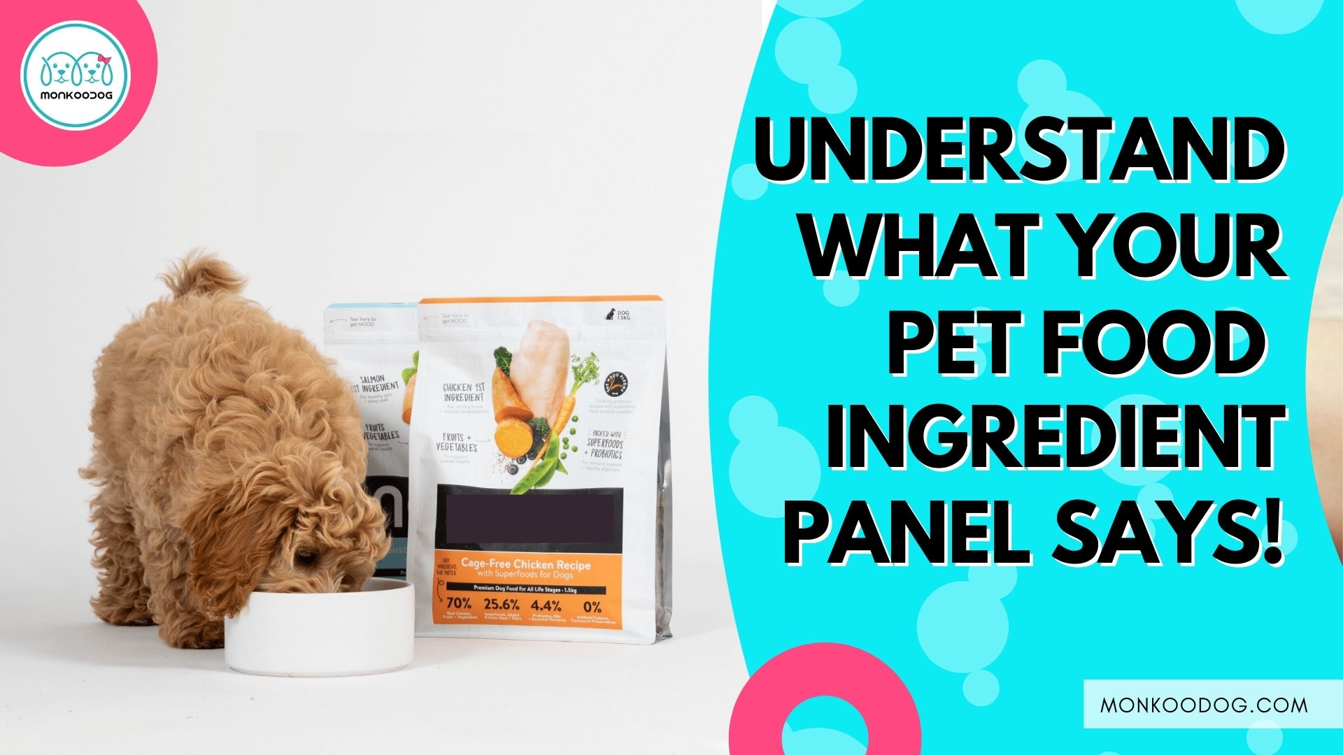 Information about the ingredients in pet food