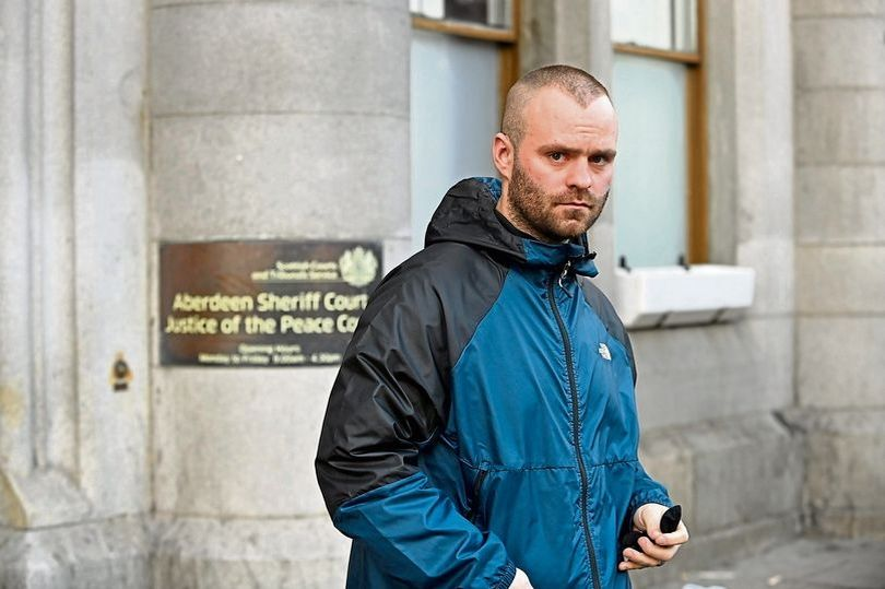 Liam Gove was bitten by his girlfriend's dog when he punched her in the face