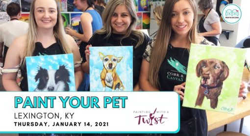 Paint Your Pet – In Studio Event By Painting With A Twist