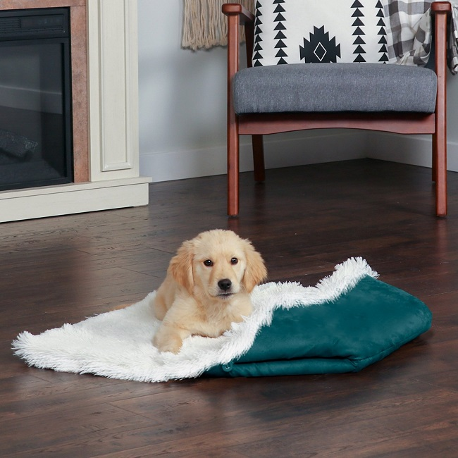 Self-Warming Convertible Cuddle Mat cum Dog Bed