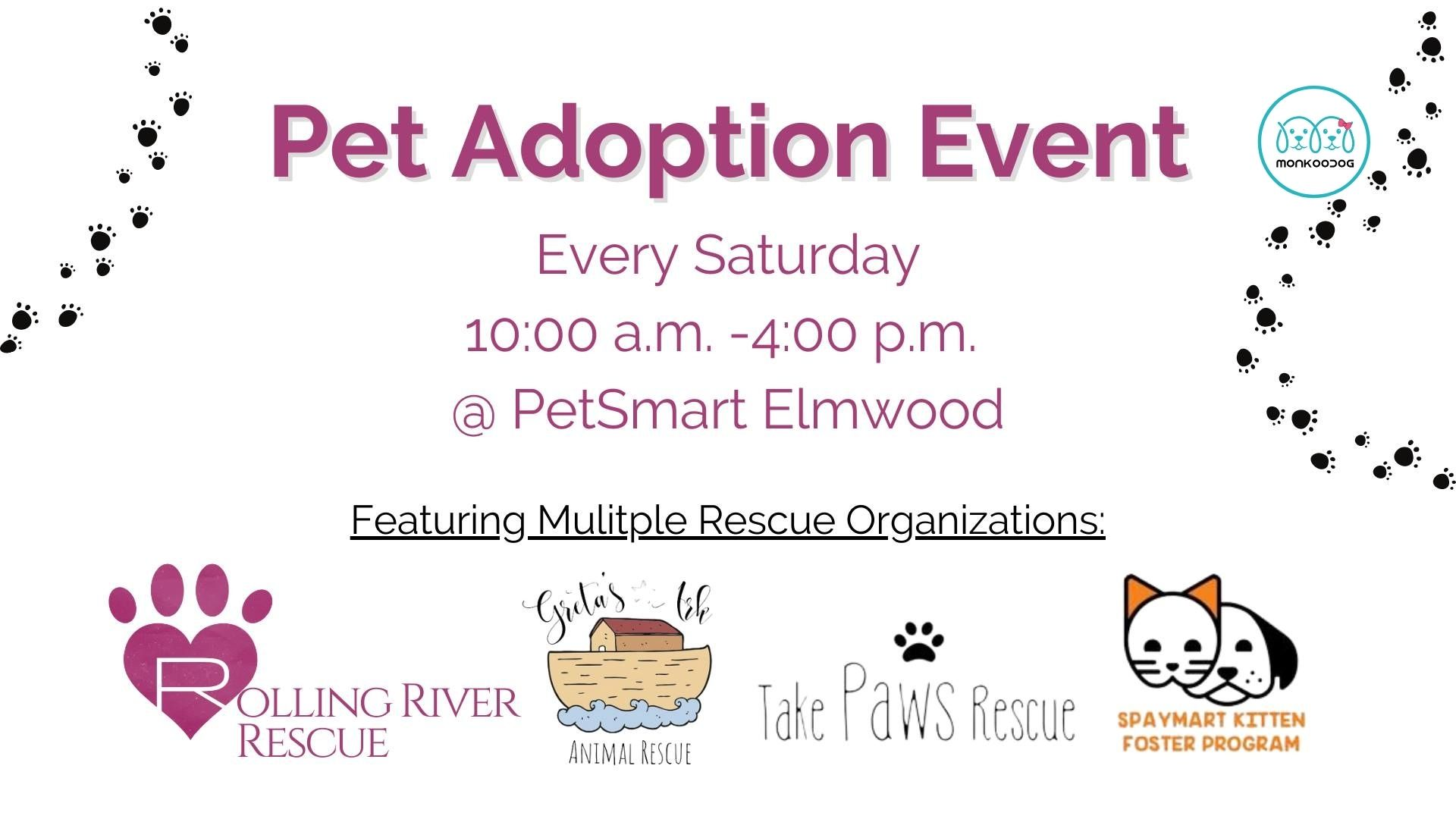 Upcoming pet event -Pet Adoption Event By Rolling River Rescue
