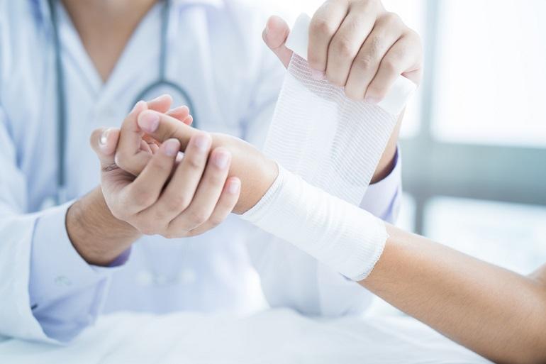 Use a sterile bandage