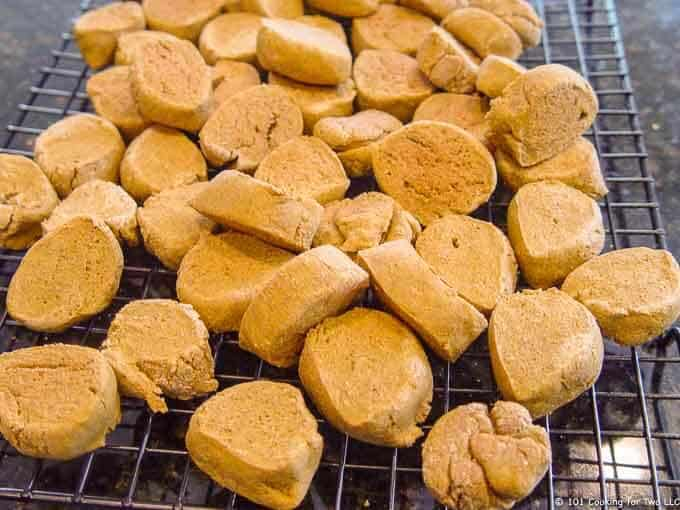 Peanut Butter and Pumpkin Dog Treat