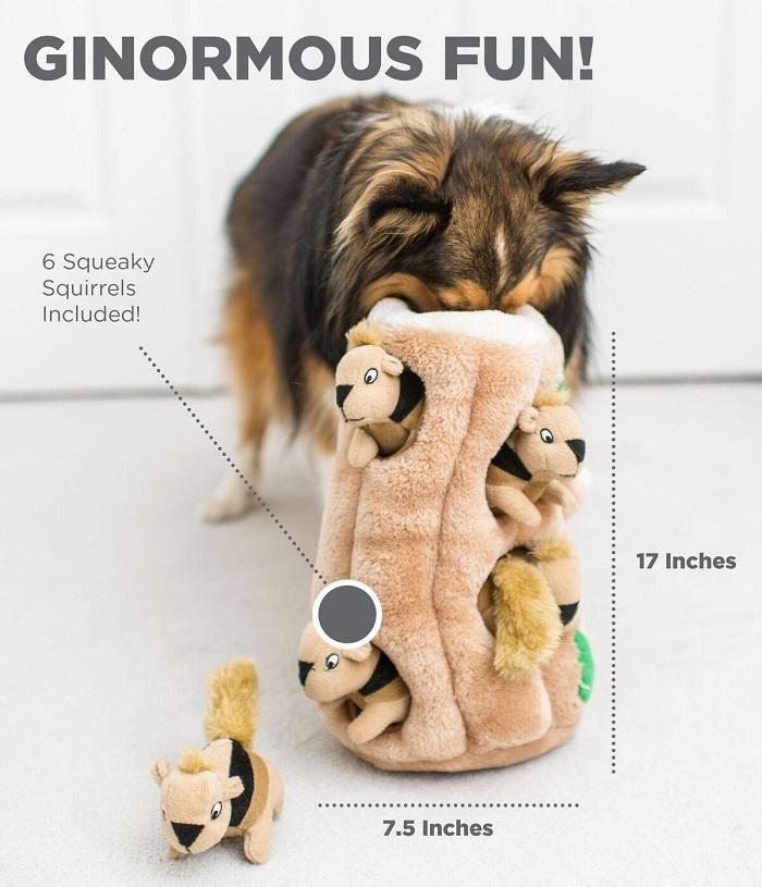 Squirrel Squeaky Puzzle Dog Toy