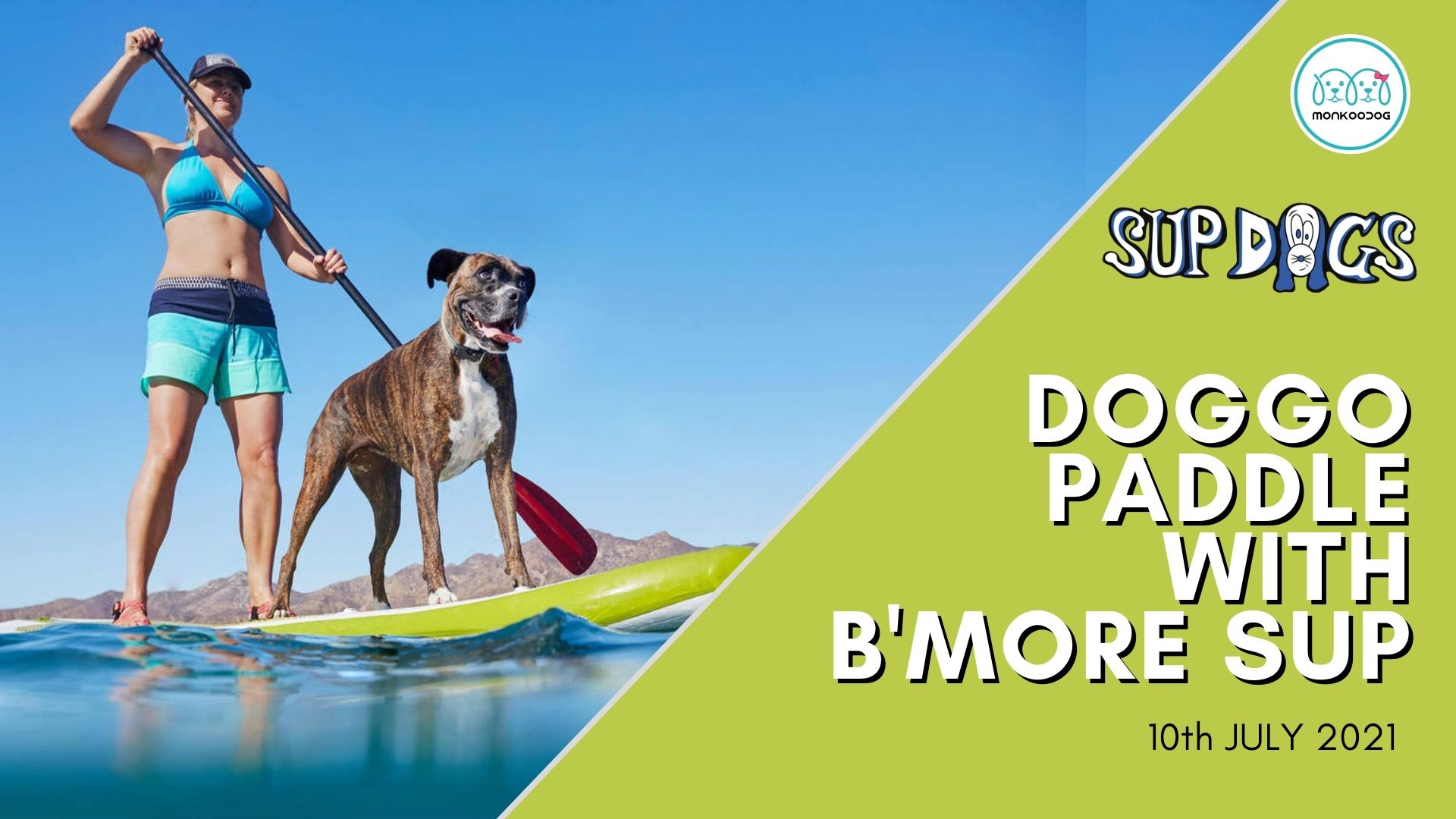 Dog Events Doggo paddle with B'More SUP