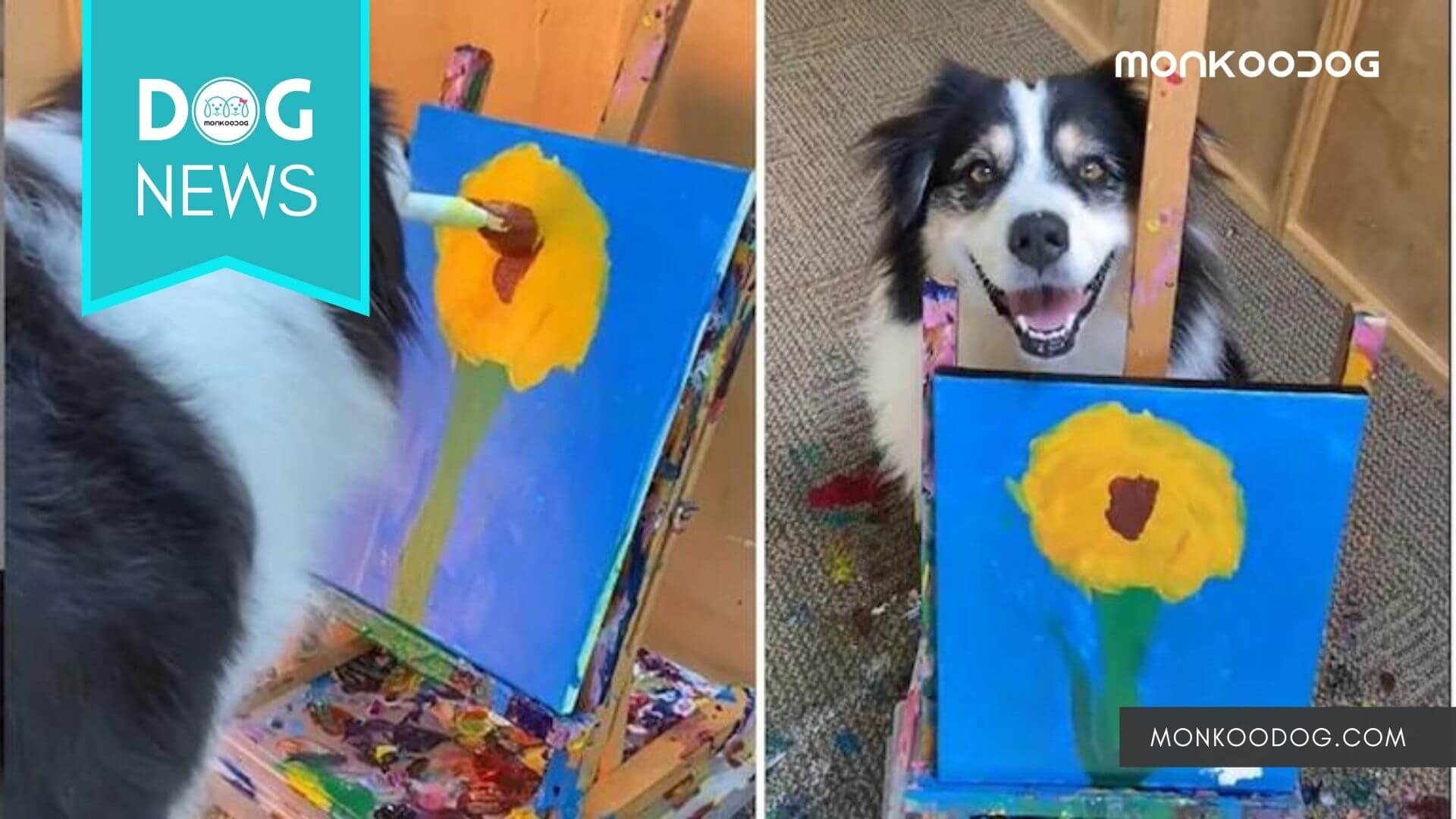 Dog astonishes the netizens by painting an adorable picture. 'Doggo Van Gogh', say netizens!!