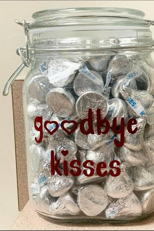 The Vet left people in tears after sharing a picture of a glass jar filled with 'Goodbye kisses' written on the front, that are reserved for dogs coming for euthanization.