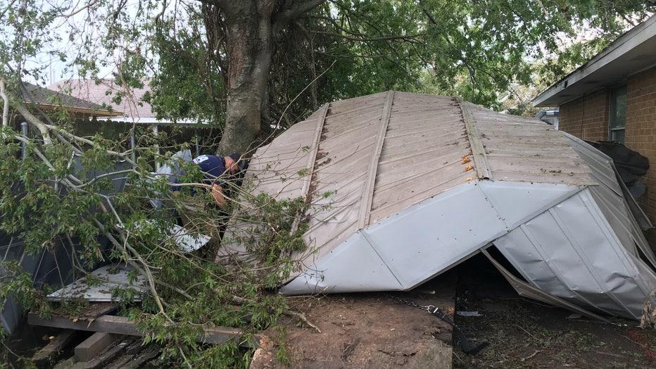 Dog Stuck Beneath Debris in Louisiana
