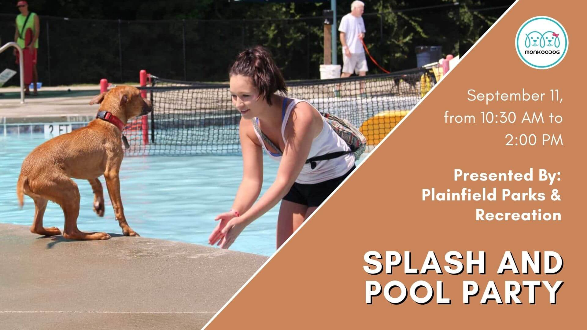 Upcoming Dog Event Buckle Up for Splash and Pool party.